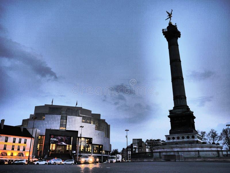 Bastille París de la ópera fotografía de archivo
