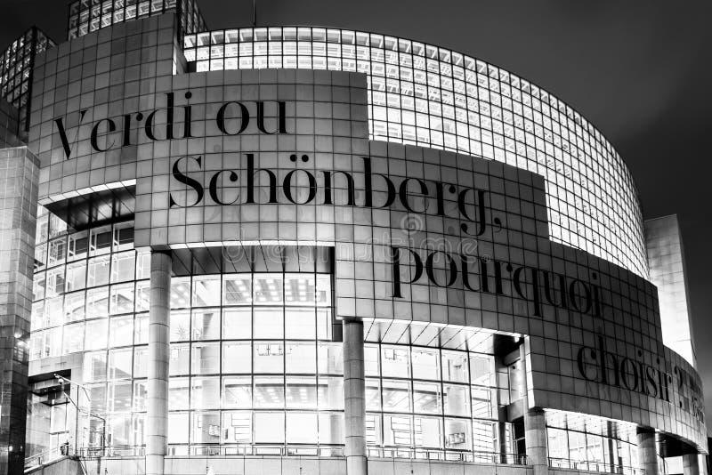 bastillefrance opera paris arkivbilder