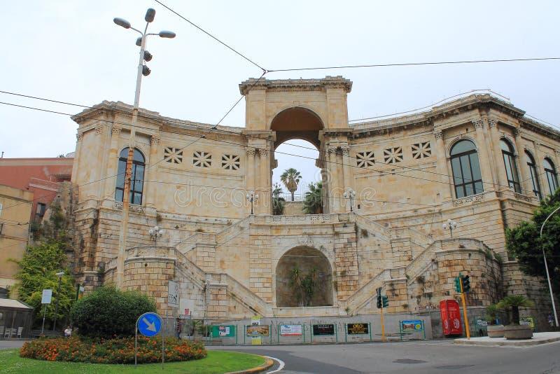 Bastion święty Remy w Cagliari Sardinia Włochy obrazy stock