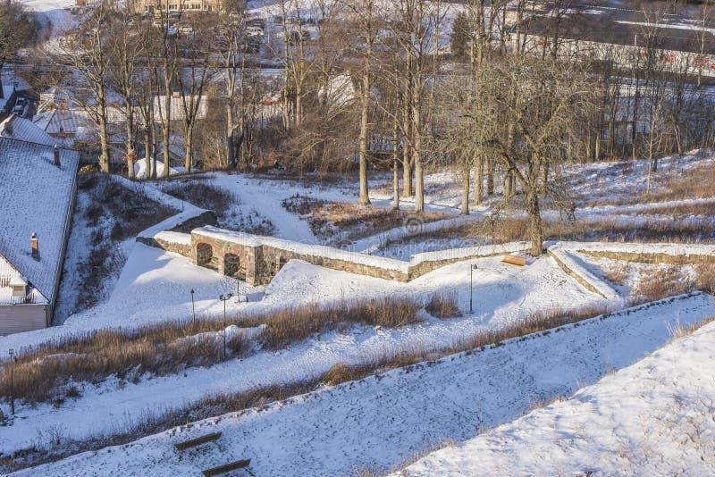 Bastion de citoyen de forteresse de Fredriksten images libres de droits