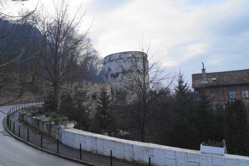 Bastion de Drapers et bastion Bastionul Postăvarilor SI Bastionul Cojocarilor, Brasov, la Transylvanie, Roumanie d'éplucheuses photos libres de droits