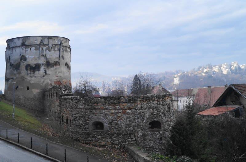 Bastion de Drapers et bastion Bastionul Postăvarilor SI Bastionul Cojocarilor, Brasov, Roumanie d'éplucheuses photos libres de droits