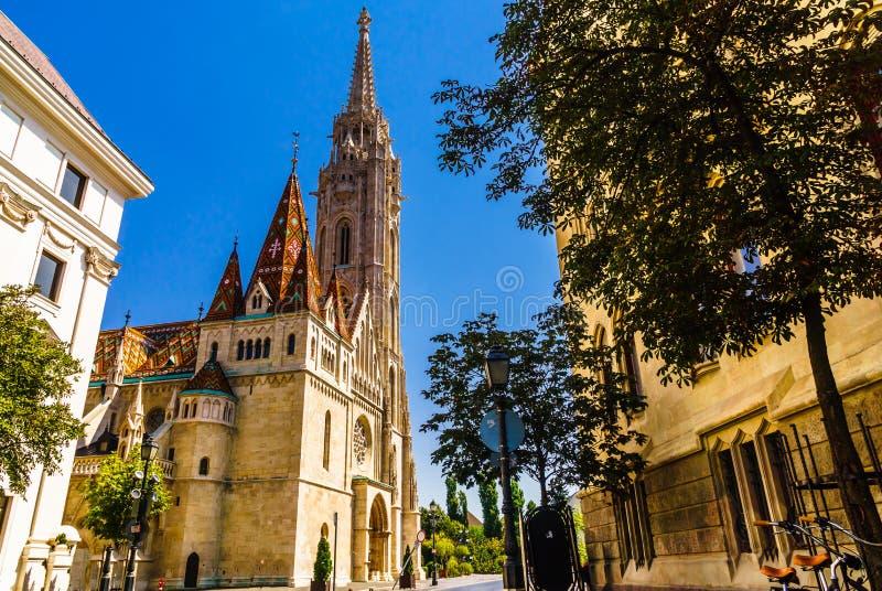 Bastion du ` s de pêcheur par le château de Buda à Budapest en Hongrie photographie stock libre de droits