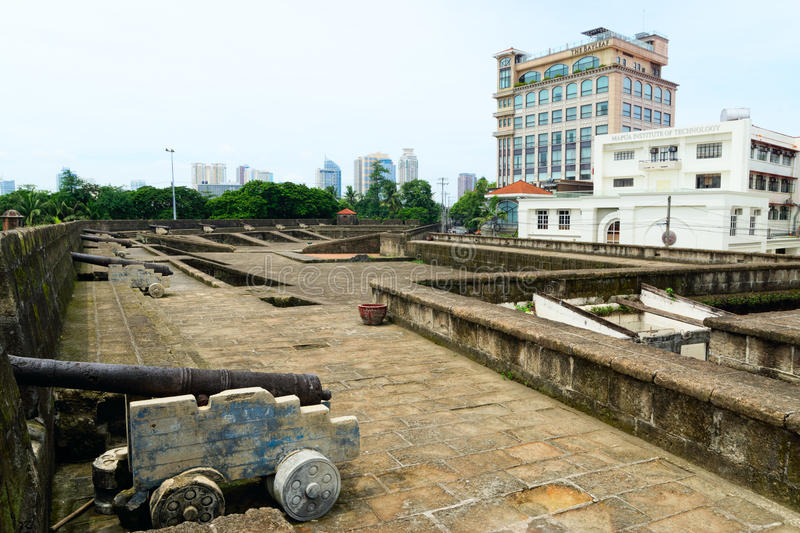 The Bastion of the Intramuros Wall in Manila, Philippines stock photos