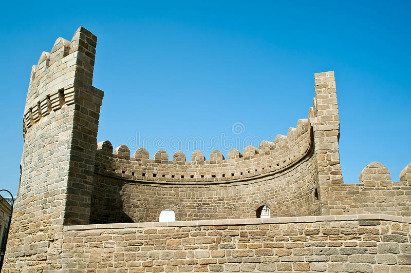 Download Bastion Of The Old Town Of Baku Stock Image - Image of caspian, bastion: 28539305