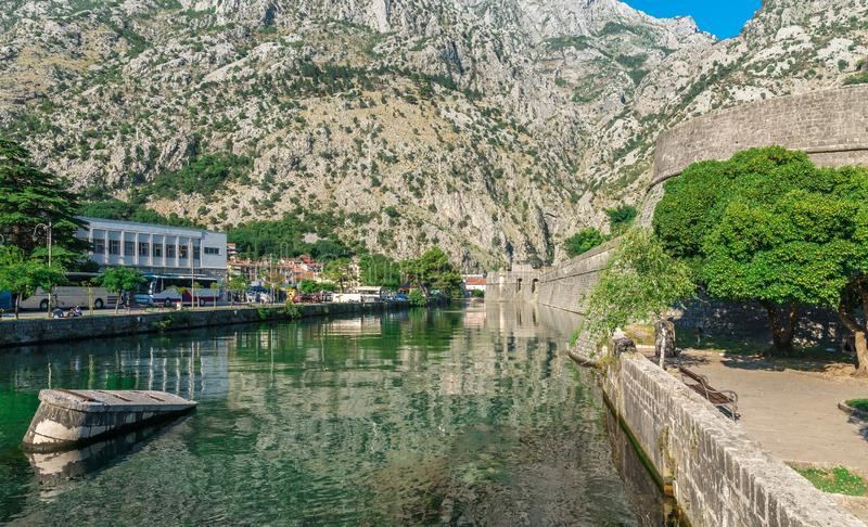 Bastion Riva w Kotor Starym miasteczku, Montenegro zdjęcia stock
