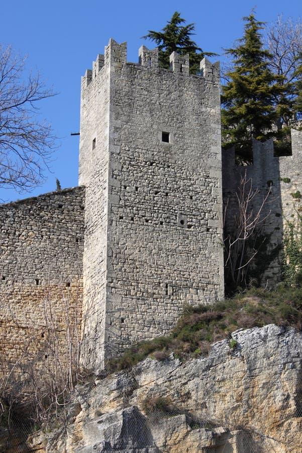 Bastion in San Marino royalty free stock image