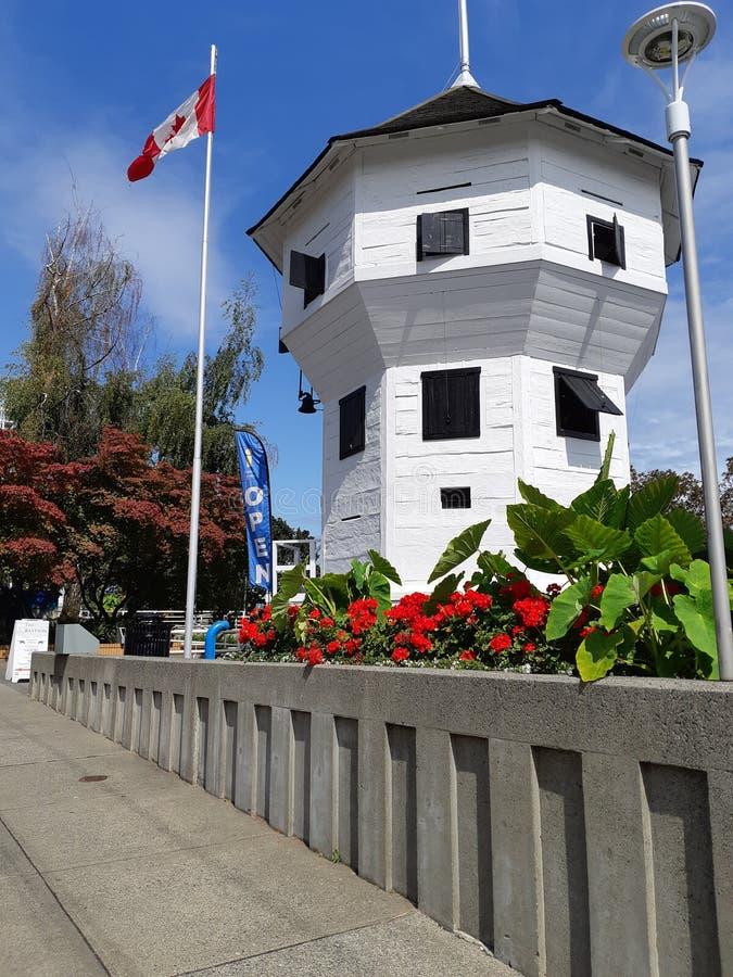 Bastion, trwająca lokalna ikona w trzecim najstarszym mieście Kolumbii Brytyjskiej, Kanada zdjęcia stock