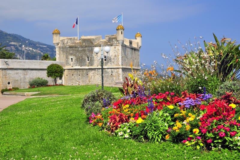 Bastion van Menton in Frankrijk stock fotografie