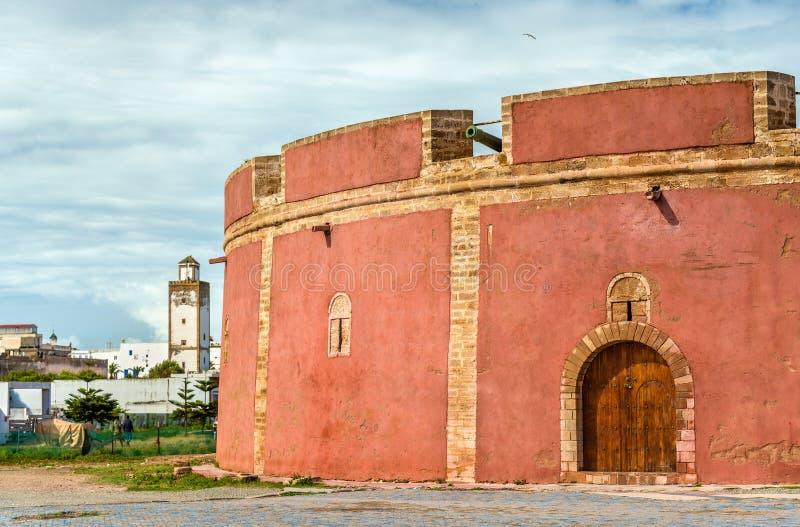 Bastione di Borj Bab Marrakech in Essaouira, Marocco immagini stock libere da diritti