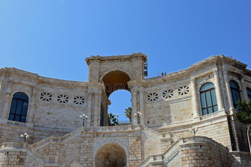 Bastione di Saint Remy, Cagliari, Sardinia, Italy royalty free stock photo