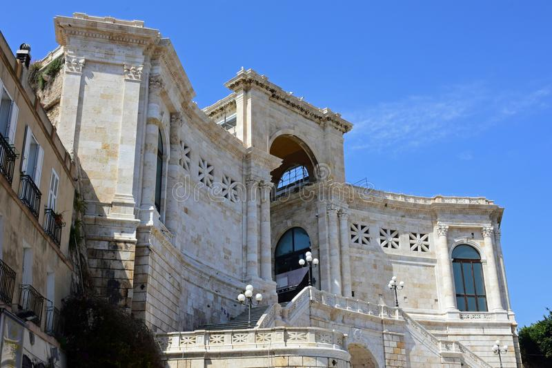 Bastione di Saint Remy, Cagliari, Sardinien, Italien stockfotos