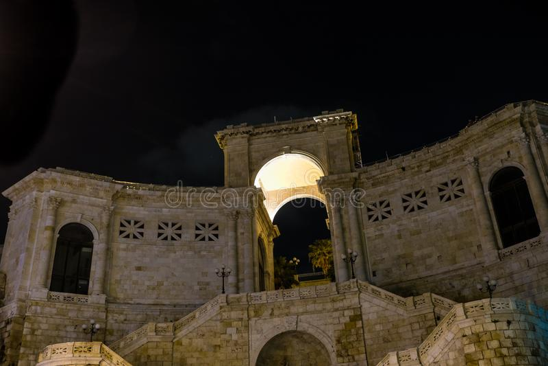 Bastione di San Remy, Cagliari, Sardinien, Italien lizenzfreies stockfoto