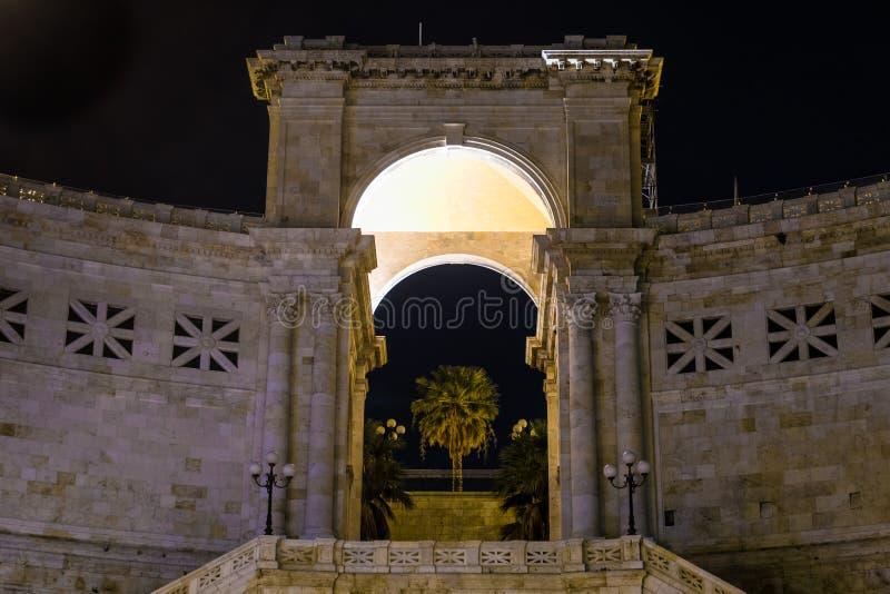 Bastione di San Remy, Cagliari, Sardinien, Italien stockbild