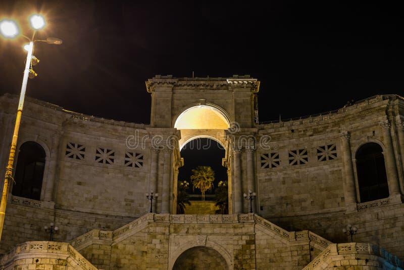 Bastione di San Remy, Cagliari, Sardinien, Italien lizenzfreie stockfotos