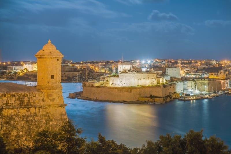 Bastione forte di Lascaris a La Valletta, Malta immagini stock libere da diritti