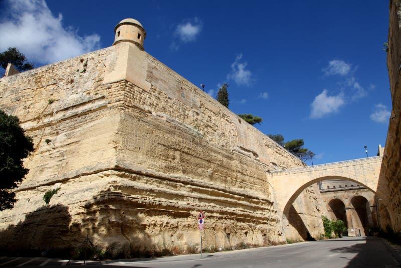 Bastiones de Valletta imagenes de archivo