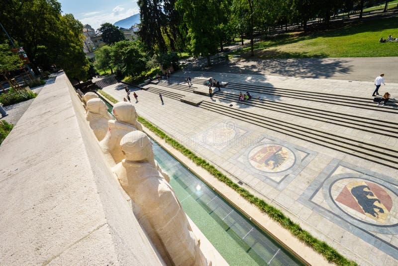 Bastions de DES de Parc à Genève, Suisse photographie stock