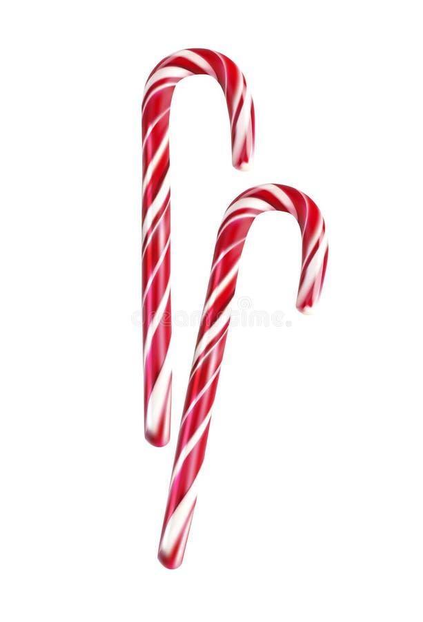 Bastoncino di zucchero di Natale illustrazione di stock