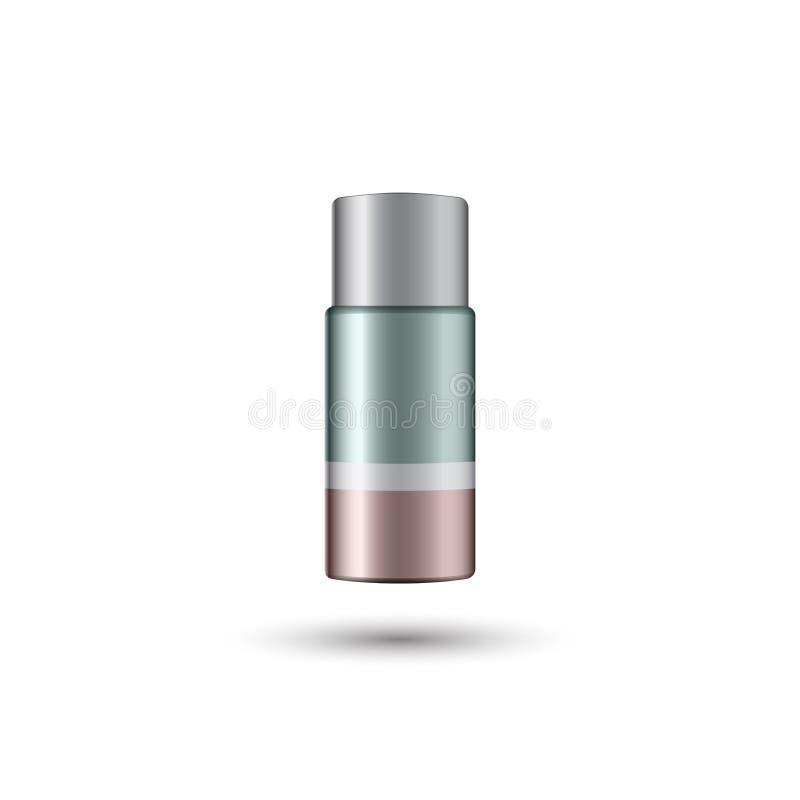 Bastone antidiaforetico del deodorante asciutto con ombra royalty illustrazione gratis