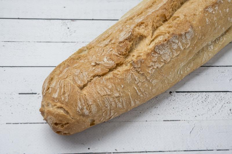 Bastone bianco del pane integrale fotografie stock