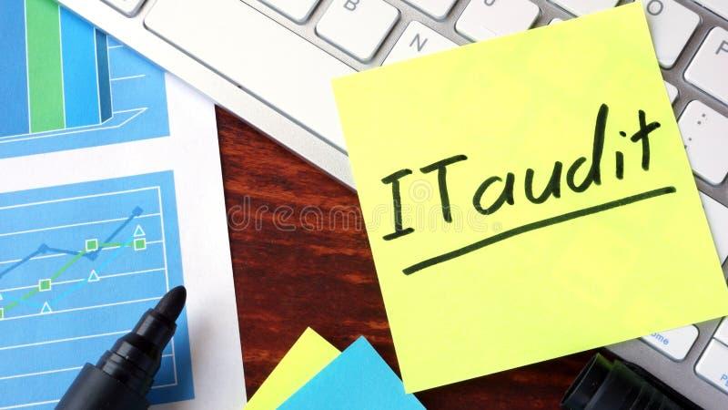 Bastone di carta con la verifica di parole l'IT immagini stock libere da diritti