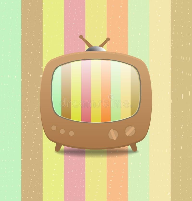 Bastone di carta riciclato icona della televisione illustrazione di stock