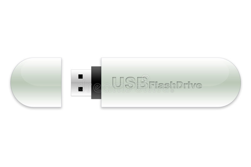 Bastone di memoria Flash del USB royalty illustrazione gratis
