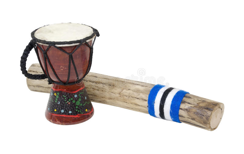 Bastone e tamburo della pioggia immagini stock