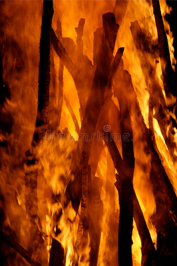 Bastoni brucianti fotografie stock