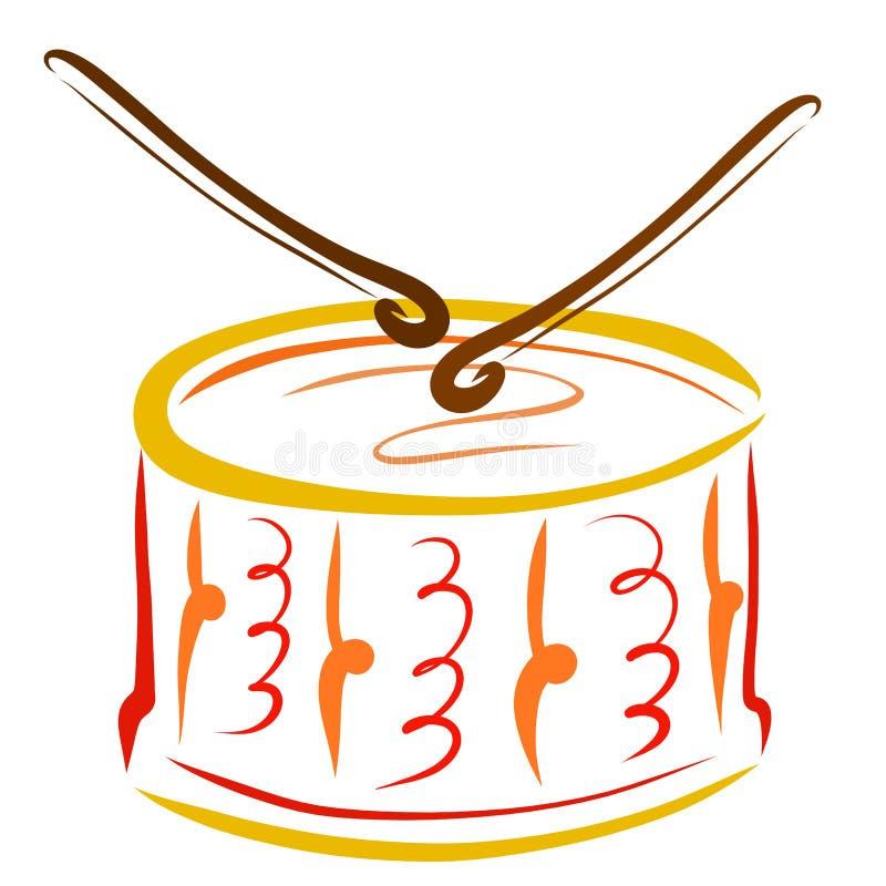 Bastoni del tamburo che giocano sul tamburo royalty illustrazione gratis