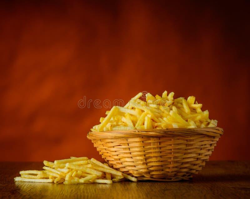 Bastoni della patata in natura morta immagine stock libera da diritti