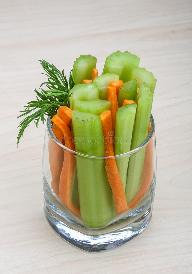 Bastoni di carota e del sedano fotografia stock