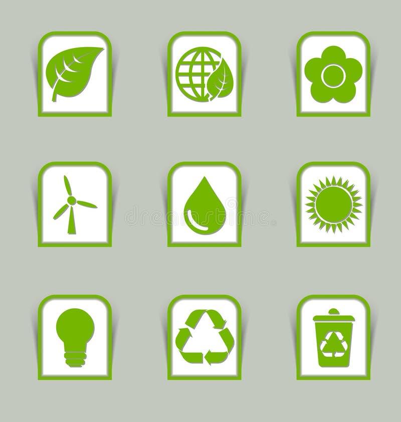 Bastoni ecologici dell'icona illustrazione vettoriale