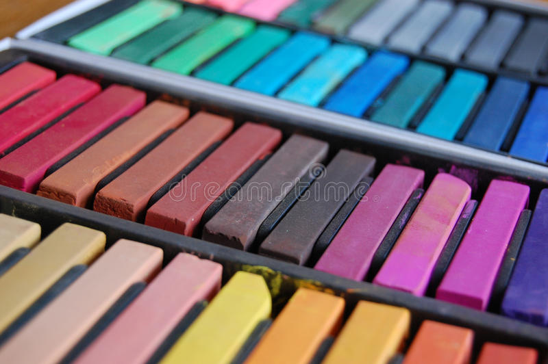 Bastoni pastelli molli fotografie stock