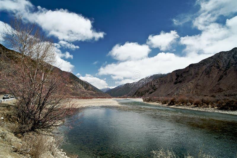 Basum jezioro, Nyingchi, Tybet zdjęcie stock