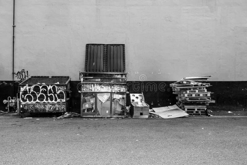 Basura de la ciudad fotografía de archivo
