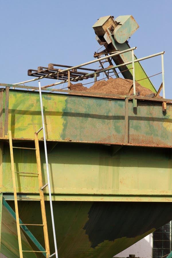 Basura verde oliva del molino: Orujo foto de archivo libre de regalías
