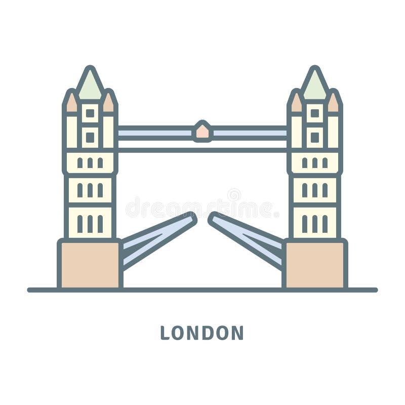 Basztowa Bridżowa wektorowa ikona ilustracji