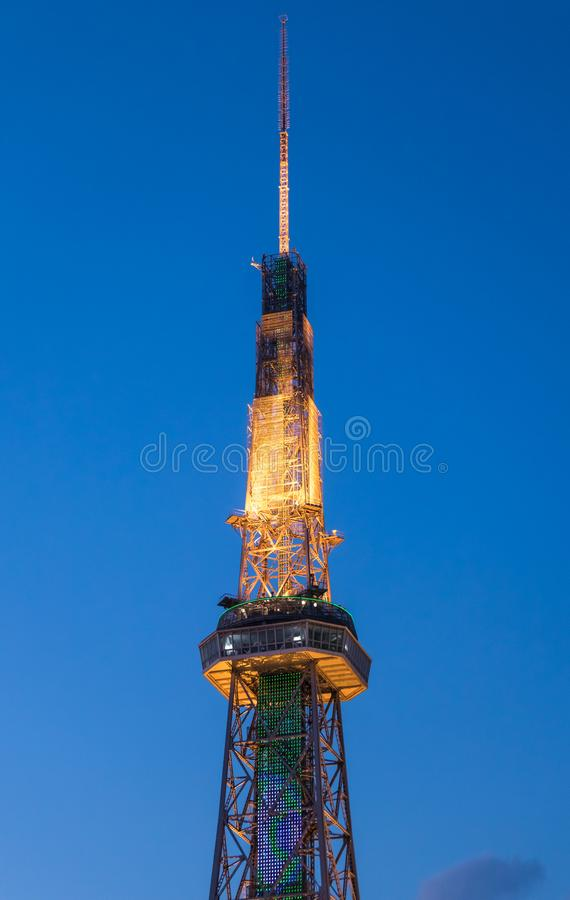 Basztowa Nagoya linia horyzontu obrazy stock