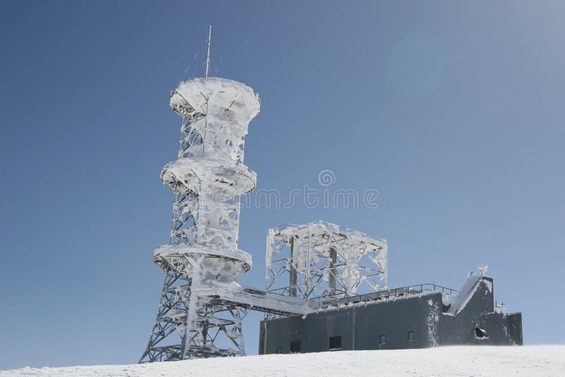 basztowa telekomunikaci zima zdjęcie royalty free