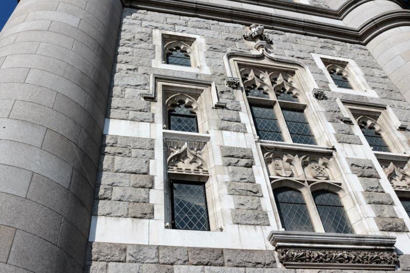 Basztowi Bridżowi fasada szczegóły - zakończenie fotografia royalty free