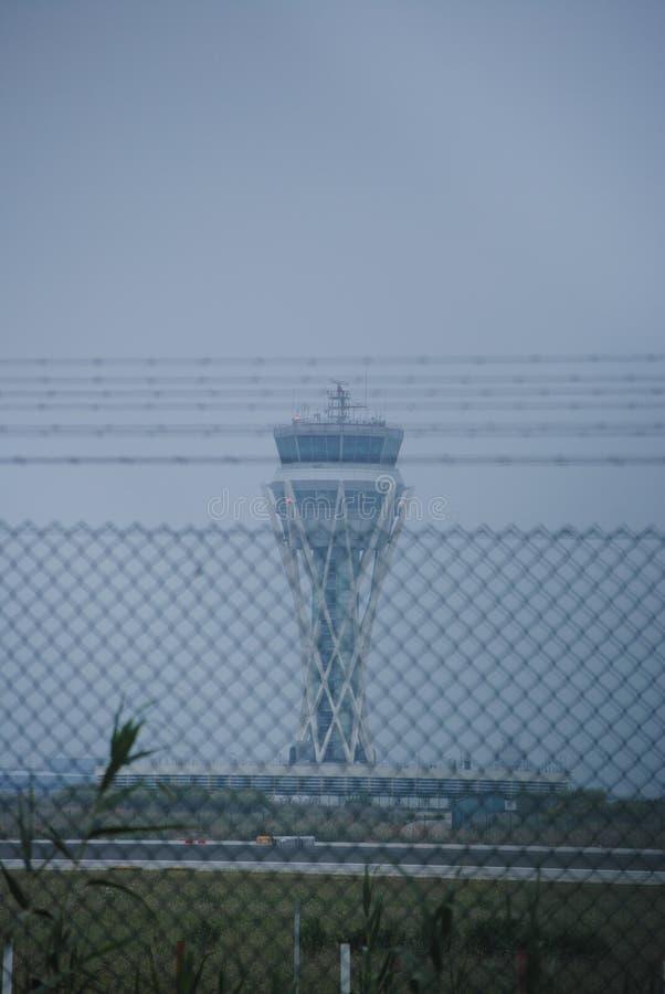 Basztowy Kontrolny Barcelona lotnisko obraz royalty free