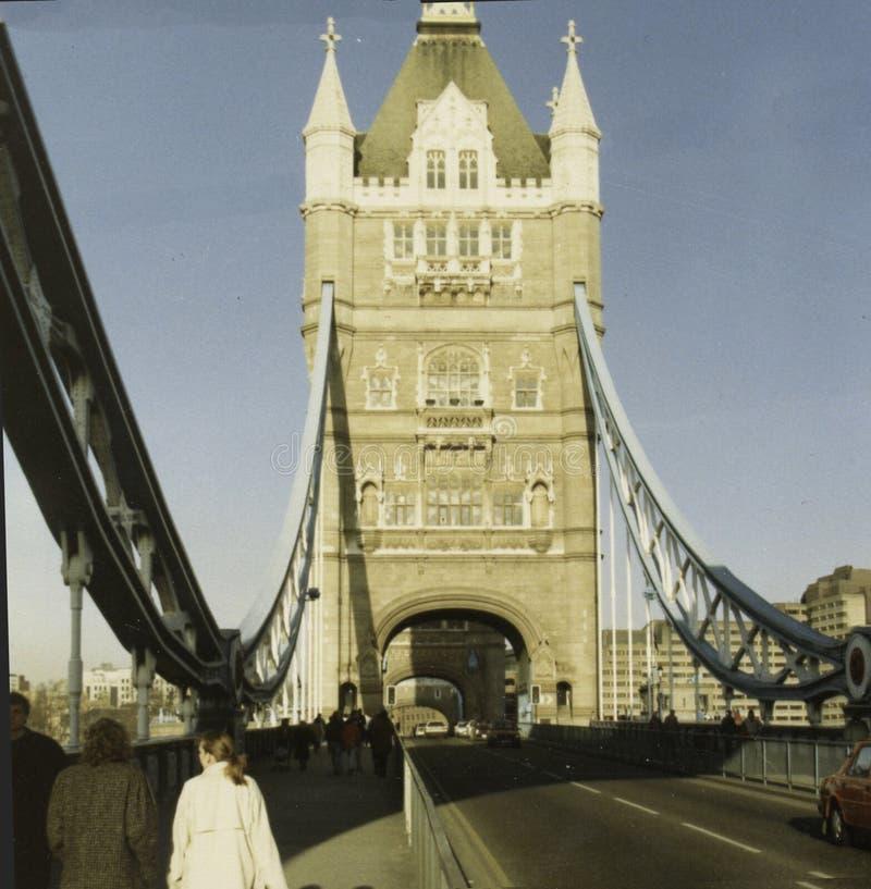 Basztowy most, Londyński Anglia około 1990, obraz royalty free