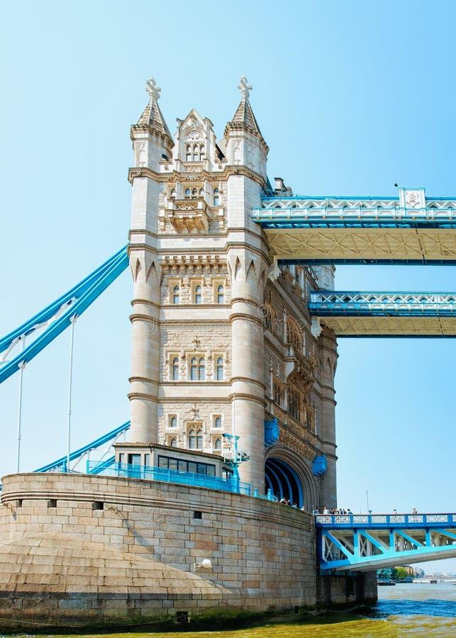 Basztowy most w Londyńskim mieście w UK obrazy stock