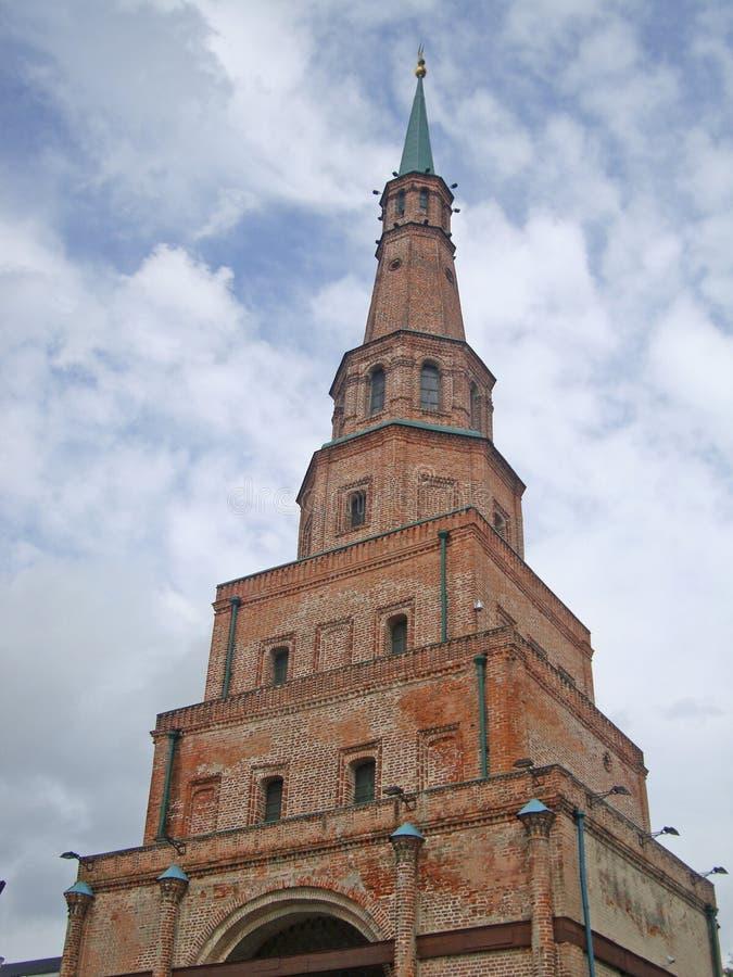 Basztowy Syuyumbike - wartownik, wieża obserwacyjna w Kazan Kremlin obrazy royalty free