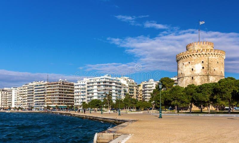 basztowy Thessaloniki biel fotografia royalty free