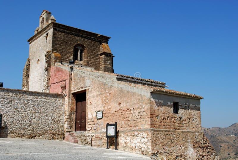 Basztowy wzgórze kościół, Alora obraz stock