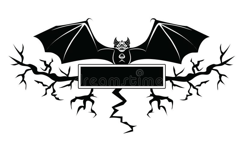 Download The Bat stock vector. Image of plant, mysterious, card - 5822468