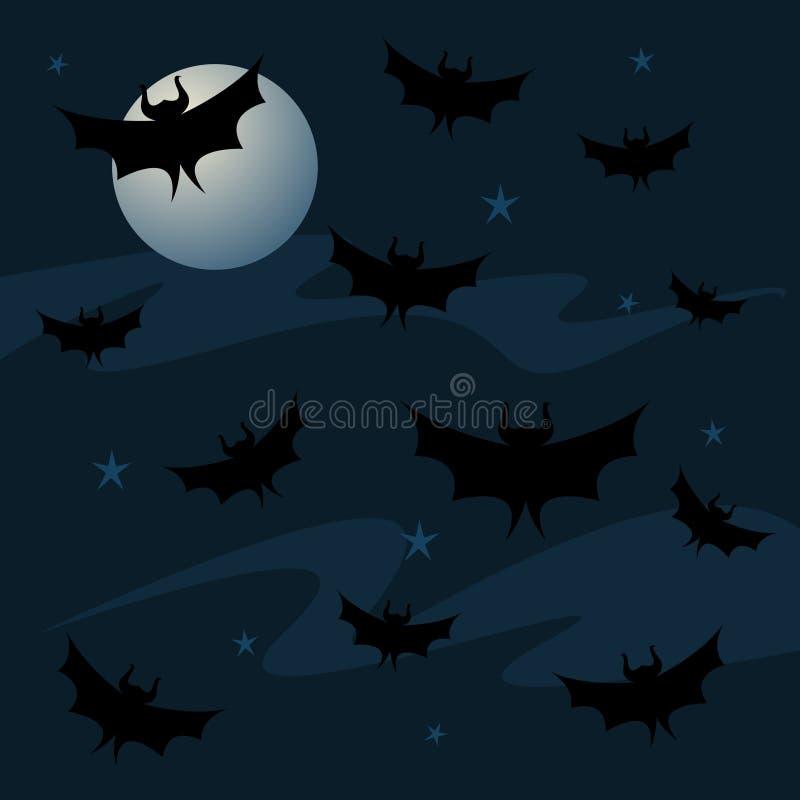 Download Bat Background stock illustration. Image of moon, halloween - 5045067